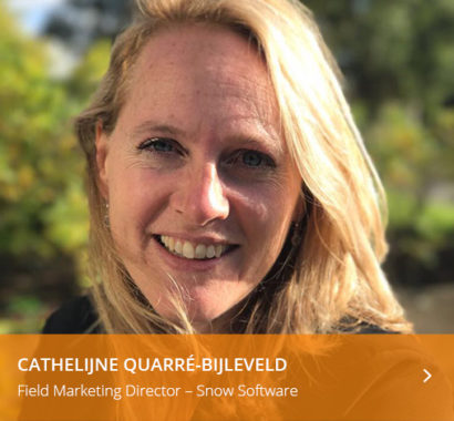Cathelijne Quarre Bijleveld Field Marketing Director Snow Software