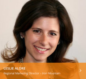 Leslie Alore Regional Marketing Director Iron Mountain
