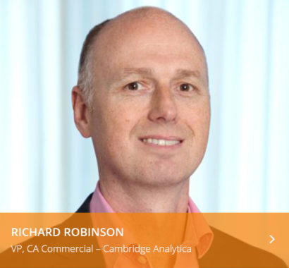 Richard Robinson VP commercial Cambridge analytica