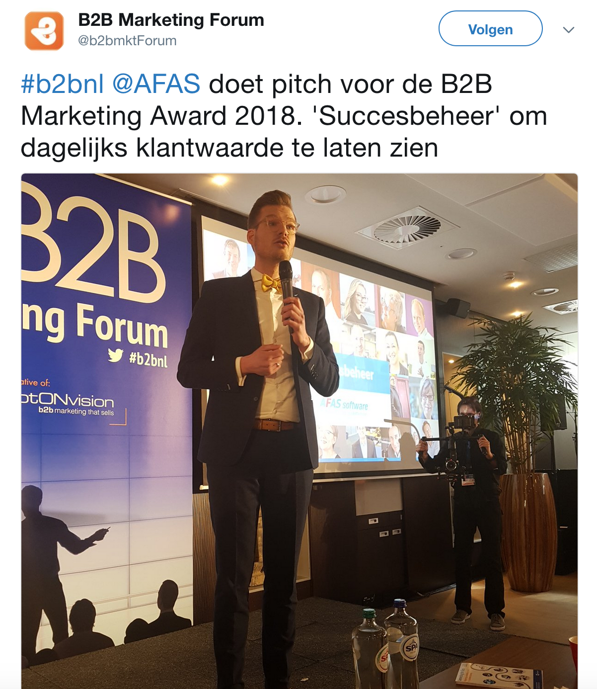 B2B Marketing Award 2018 - AFAS